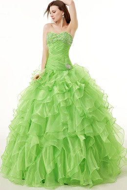 Ball Gown Organza Floor-Length Quinceanera after Party Dresses