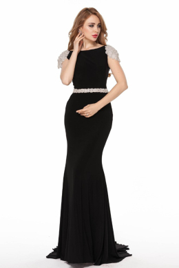 Sheath/Column Elastic Satin Floor-Length Mother Wedding Dresses