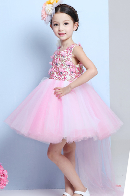 A-Line/Princess Tulle Short/Mini Wedding Dresses for Children