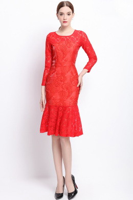 Sheath/Column Lace Knee-Length Guest Dresses for Summer Wedding
