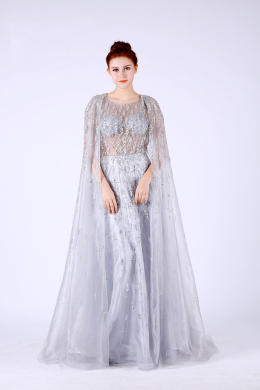 A-Line/Prinncess Tulle Floor-Length Long Beautiful Prom Dresses