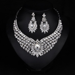 Vintage Bridal Crystal Pendant Fashion Jewelry Necklaces for Wedding