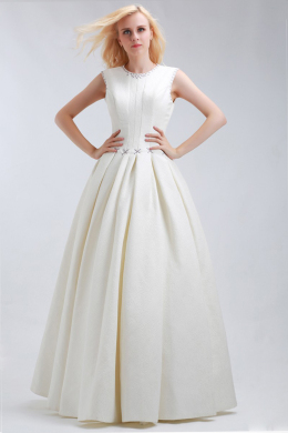 A-Line/Princess Satin Floor Length Popular Pprom Dress Stores