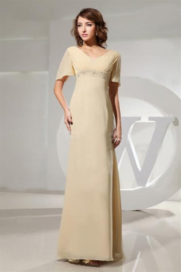 A-Line/Princess V-Neck Floor Length Chiffon Mother of the Bride Dresses with Applique