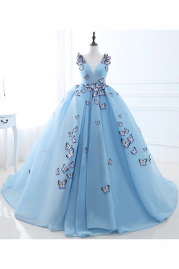 Ball Gown Tulle Floor-Length Prom Dresses 2017 Long