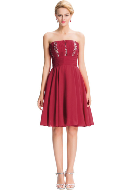 A-Line/Princess Chiffon Knee-Length Cocktail Party Dresses for Women