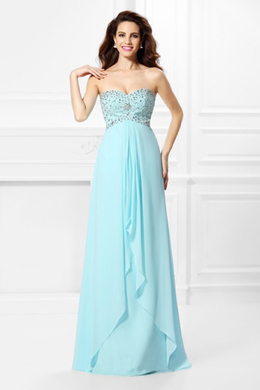 A-Line/Princess Chiffon Floor Length Bridesmaid Gowns Online