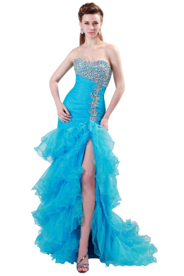 Sheath/Column Organza Floor-Length Places for Quinceanera Party
