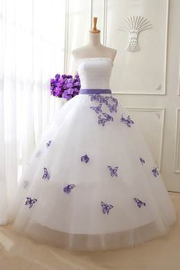 Ball Gown Tulle Floor Length Wedding Dresses Bridal Gowns