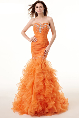 Sheath/Column Organza Floor-Length Quinceanera Decoration Ideas