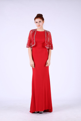Sheath/Column Elastic Satin Floor-Length Mother of the Bride Dresses