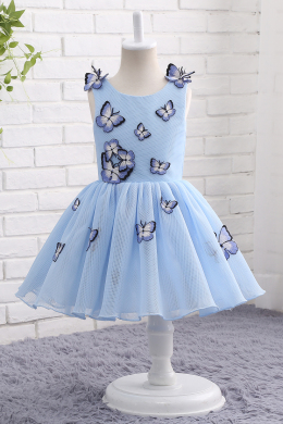 A-Line/Princess Tulle Knee-Length Flower Girl Dress Baby