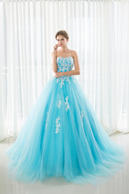 Ball Gown Tulle Sweep Train Formal and Prom Dresses