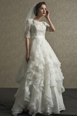 A-Line/Princess Chiffon Floor Length Bridal Shop Wedding Dresses