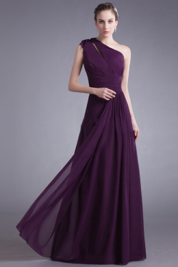 A-Line/Princess Chiffon Floor Length Bridesmaid Designers