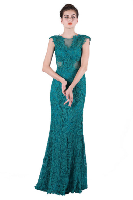 Sheath/Column Lace Floor Length Prom Dress for Sale