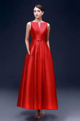 A-Line/Princess Satin Floor Length Best Bridesmaid Dresses
