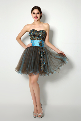 A-Line/Princess Tulle Short/Mini Perfect Little Black Dress