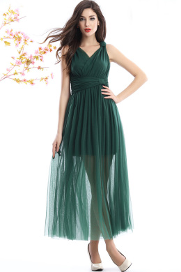 A-Line/Princess Tulle Ankle-Length Wedding Guest Summer Dresses