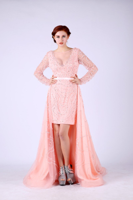 A-Line/Princess Tulle Sweep Train Long Dresses for Prom