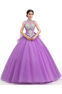 Ball Gown Tulle Floor Length Quinceanera Ideas Themes