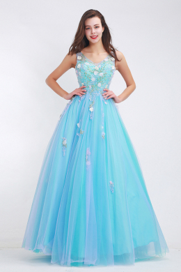 A-Line/Princess Tulle Floor Length Dress Stores for Prom