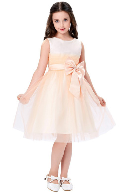 A-Line/Princess Tulle Knee-Length Little Girl Dresses for Wedding