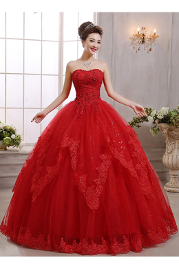Ball Gown Tulle Floor-Length Famous Wedding Dress Designers