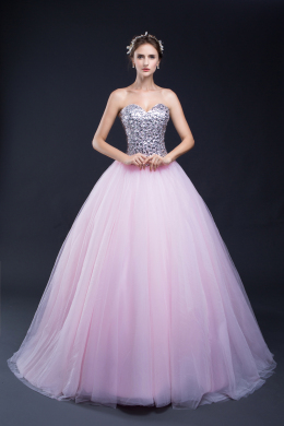 Ball Gown Tulle Floor-Length Formal Gowns Dresses