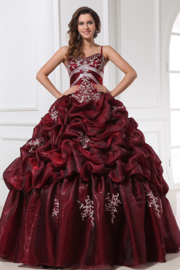 Ball Gown Sweetheart Neckline Floor Length Taffeta Quinceanera Dresses with Beads