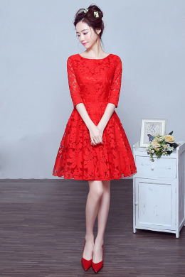 A-Line/Princess Lace Knee-Length Cocktail Party Dresses for Women