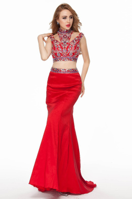 Trumpet/Mermaid Chiffon Sweep Train Special Occasion Evening Gowns