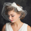 Women's Vintage Fascinator Bridal Hat Net Bridcage Wedding Veil