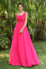 A-Line/Princess Chiffon Floor Length Damas Dresses