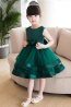 A-Line/Princess Tulle Knee Length Childrens Flower Girl Dress