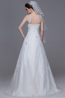 A-Line/Princess V-Neck Floor Length Tulle Wedding Reception Dress with Beads
