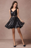 A-Line/Princess Sequined Mini Length Wedding Party Dresses