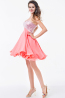 A-Line/Princess Sweetheart Short Chiffon Cocktail Dresses with Sequins