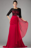 A-Line Jewel Neck Sweep Train Chiffon Mother of the Bride Dresses with Lace