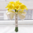 Calla Lily Bridal Wedding Party Decor Bouquet Latex Touch Flower Bunch