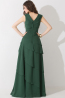 A-Line/Princess V-Neck Floor Length Chiffon Bridesmaid Dress with Ruffles