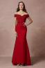 Trumpet/Mermaid Chiffon Sweep Train Coral Bridesmaid Dress