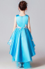 A-Line/Princess Satin Hi-Lo Dresses for Little Girls for Weddings