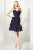 A-Line/Princess Chiffon Short Length Formal Dresses for Christmas