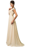 A-Line/Princess Chiffon Sweep Train Vera Wang Bridesmaid Dresses