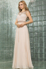 A-Line/Princess Jewel Neck Floor Length Chiffon Prom Dress with  Embroidery