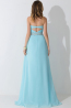 A-Line/Princess Strapless Floor Length Chiffon Bridesmaid Dress with Beads