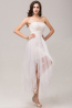 A-Line/Princess Strapless Tea Length Tulle Coaktail Dress with Appliques