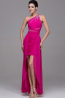 Sheath/Column One-Shoulder Mini Length Chiffon Prom Dress Dress with Pleats