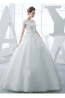 Ball Gown Organza Floor Length Beautiful Vintage Wedding Dresses
